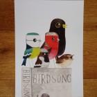 Birdsong – Birds & Books A4 Print