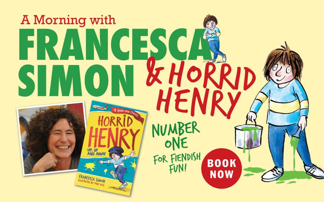 A Morning with Francesca Simon – Celebrating 25 Years of Horrid Henry!