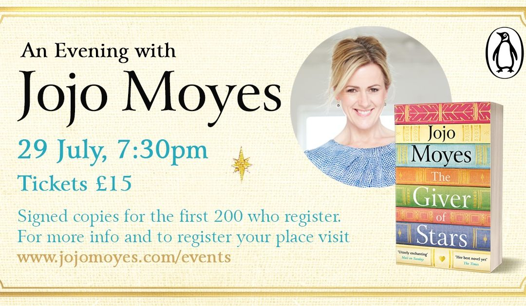A Virtual Evening with JoJo Moyes – The Giver of Stars