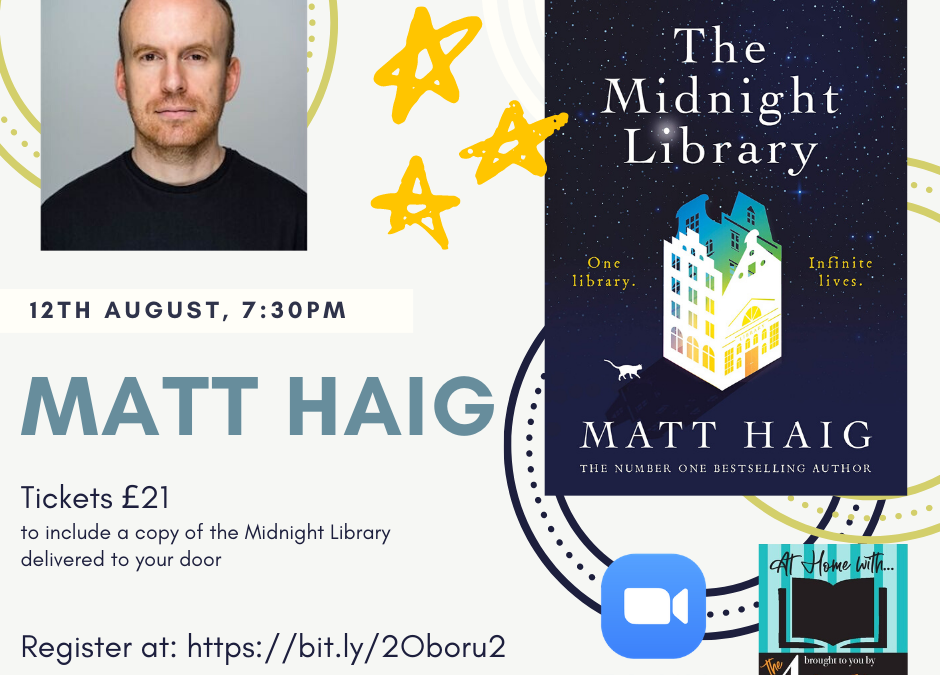 A Virtual Evening with Matt Haig – The Midnight Library