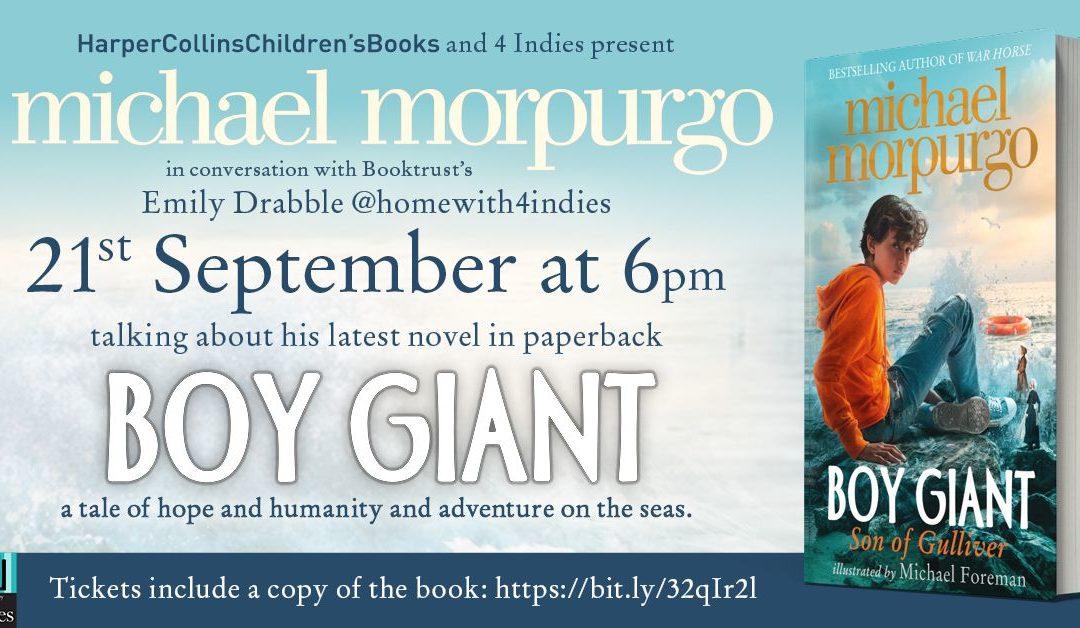 Michael Morpurgo – Boy Giant – Live Stream
